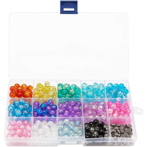 Plastic Bead Organizer Boxes with Dividers and Labels (7 x 4 x 1 in, 6 Pack)