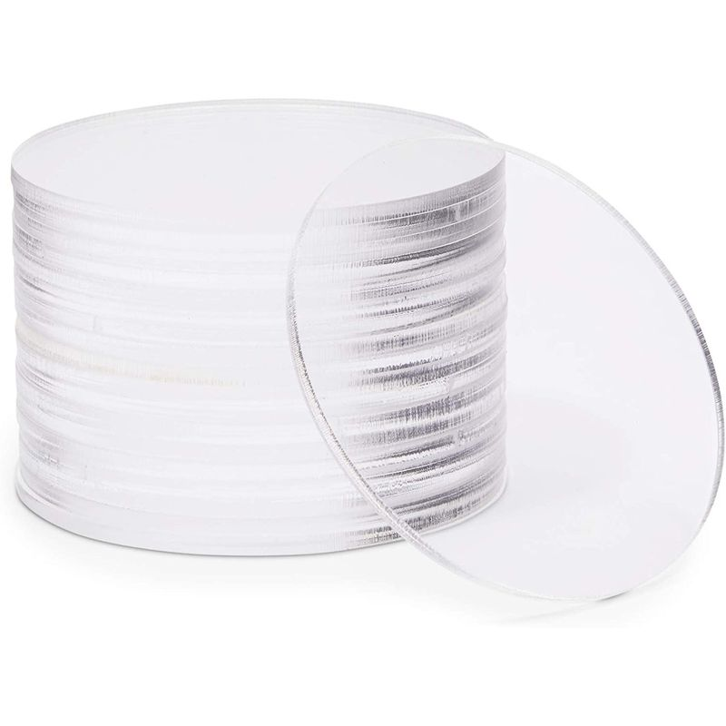 Clear Acrylic Disks, Round Circles for Arts and Craft Supplies (3 Inches, 20 Pack)