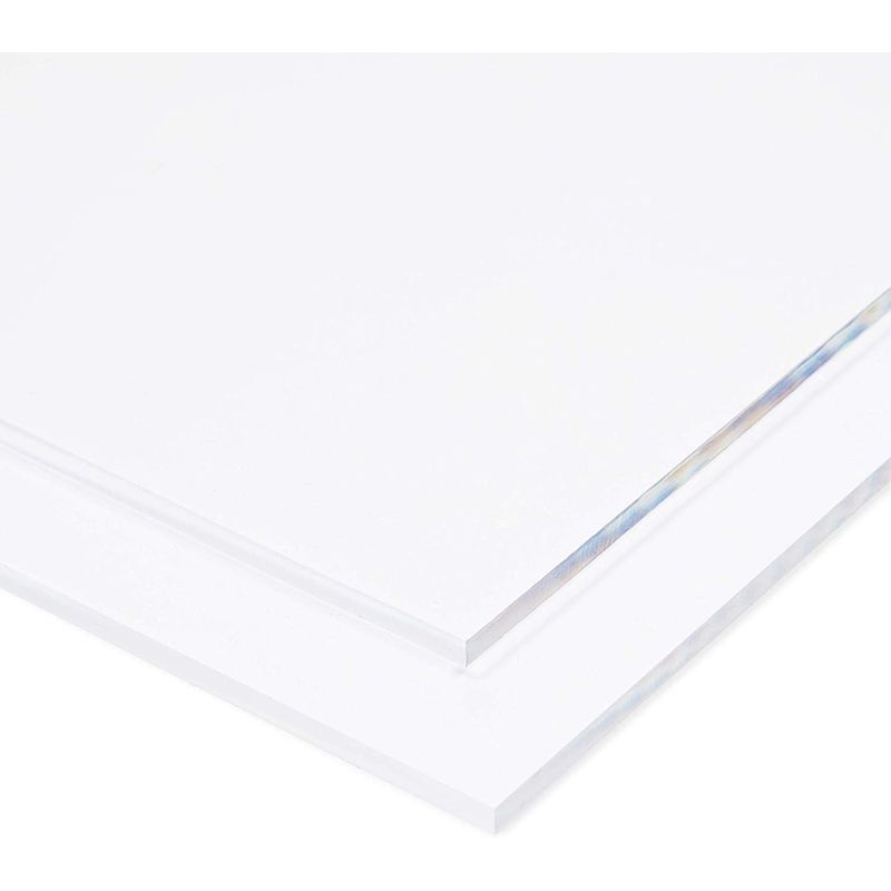 Clear Acrylic Sheets for Signs, Art, Crafts Supplies (12 x 6 Inches, 2 Pack)