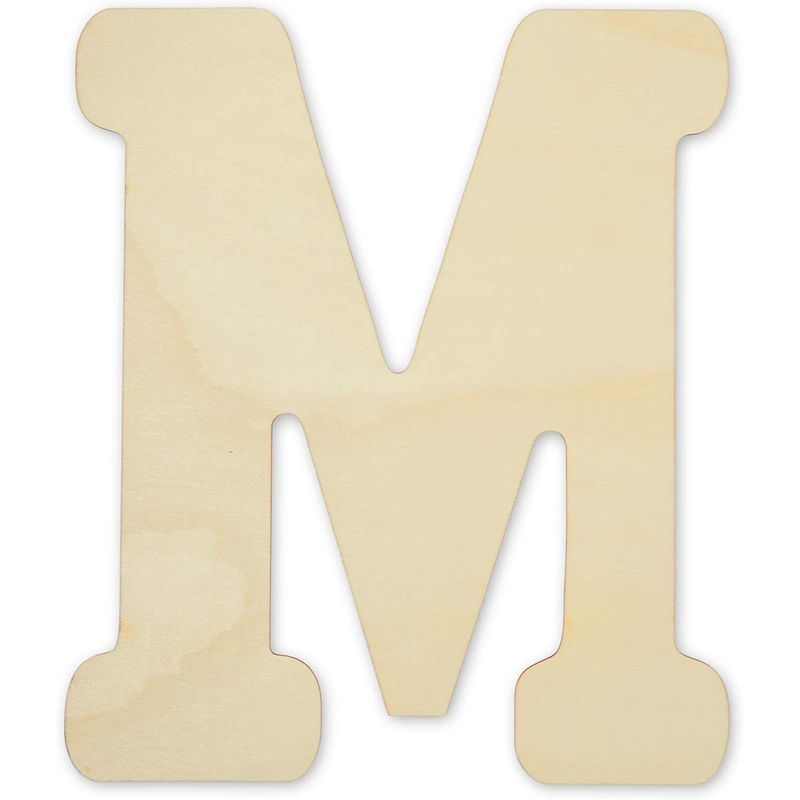 Bright Creations Unfinished Wooden Letters for Crafts, Home (12 Inches, 4 Pieces)