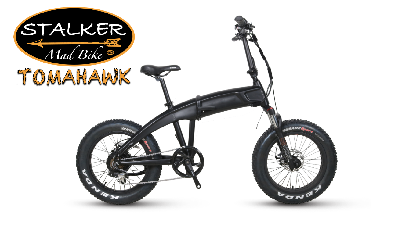 TOMAHAWK Mad Bike® - Fat Bike Électrique Pliant Tout Terrain Haute Performance - STALKER MAD BIKE