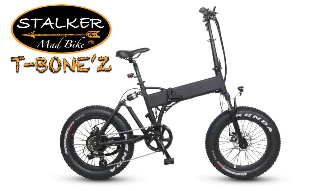 T-BONE'Z Mad Bike® - Fat Bike Électrique Pliant Compact - STALKER MAD BIKE