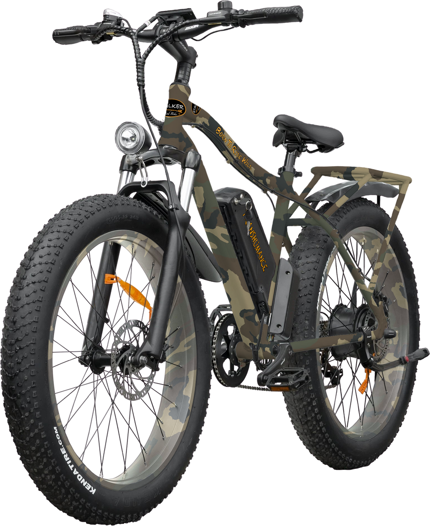 TRANSHUMANCE Mad Bike® - Fat Bike Électrique Porte-Bagage Voyage - 750W 48V 13Ah 70km 90Nm - STALKER MAD BIKE
