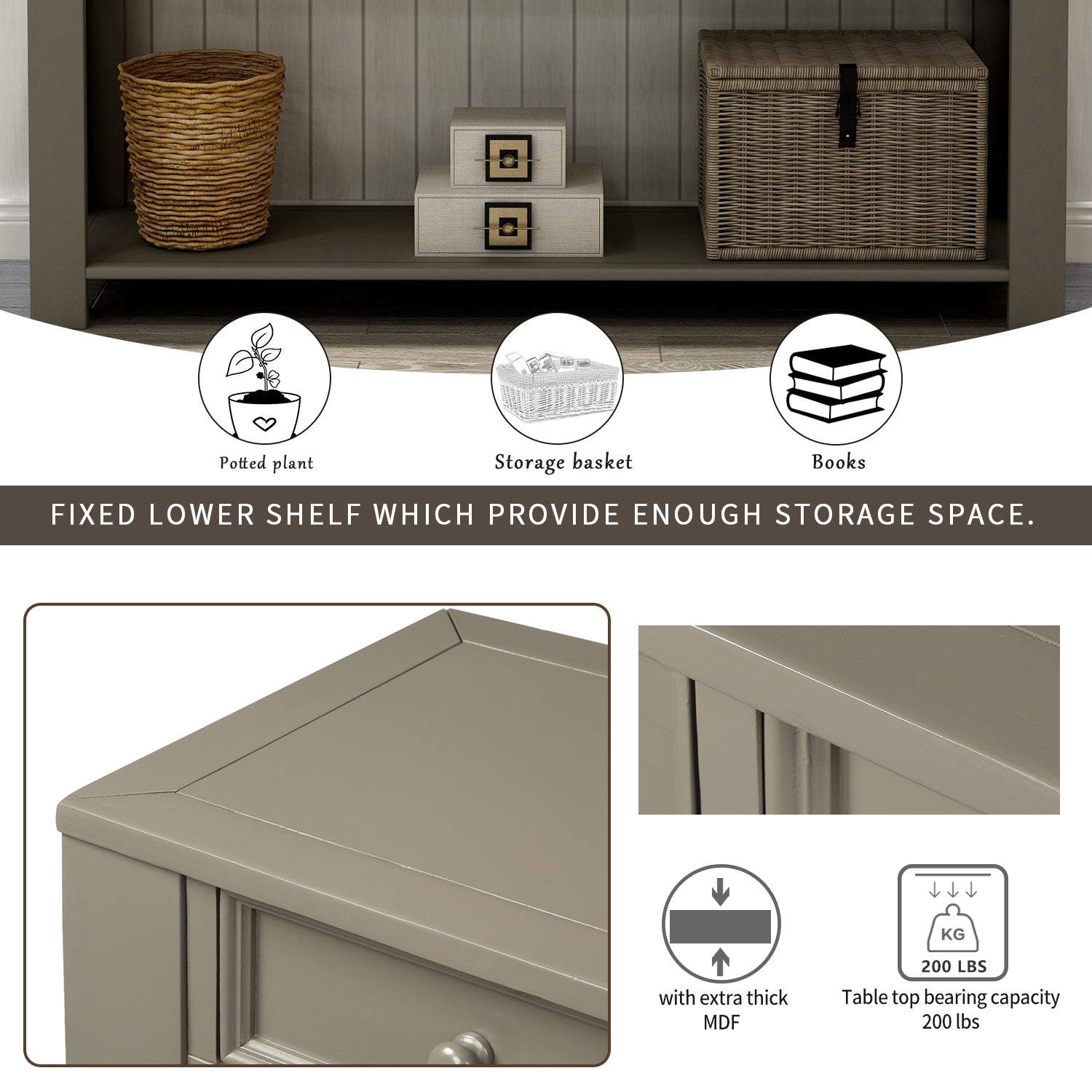 Picture of: Console Table For Entryway Hallway Sofa Table With Storage Drawers And Churanty