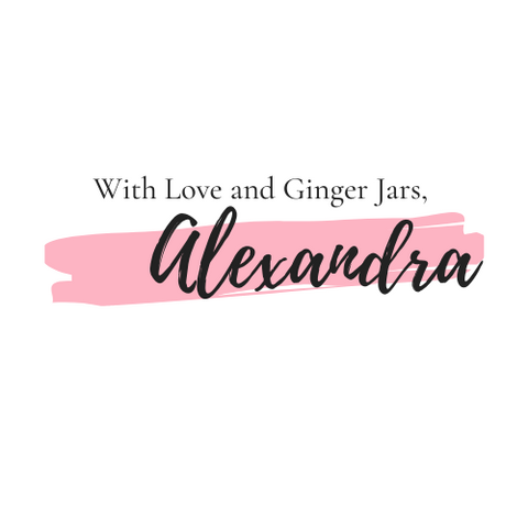 With Love and Ginger Jars, Alexandra