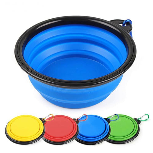 Collapsible Pet Travel Bowl With Carabiner