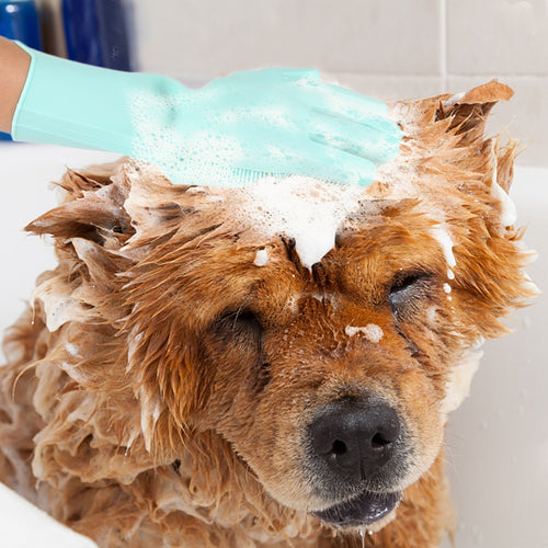Multi-Purpose Pet Washing Silicone Gloves