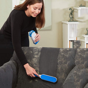 Pet Fur And Lint Remover With Self-Cleaning Base