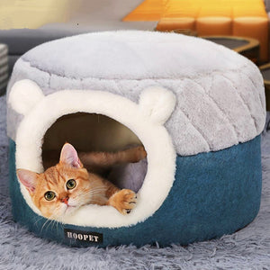 Comfy Round Cat Basket Bed