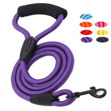 Load image into Gallery viewer, Nylon Braided Dog Leash With Easy-Grip Handle