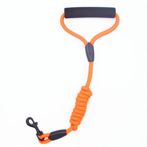 Nylon Braided Dog Leash With Easy-Grip Handle