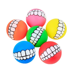 Funny Teeth Dog Toy Ball