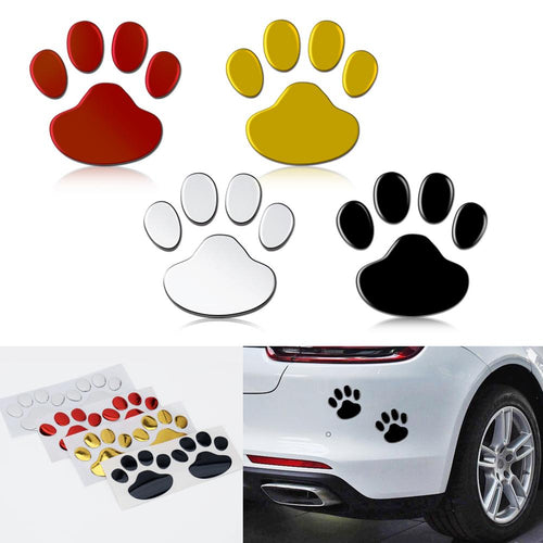 2Pcs/Set Car Sticker Cool Design 3D Animal Footprint Decal