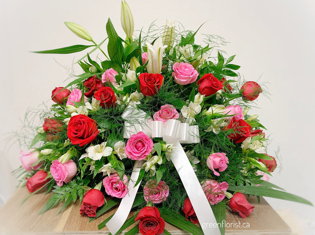 Casket Spray with Roses