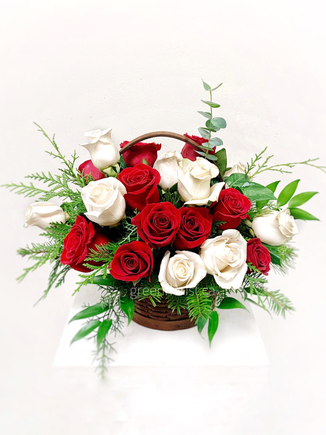 Two Dozen Mixed Roses Basket