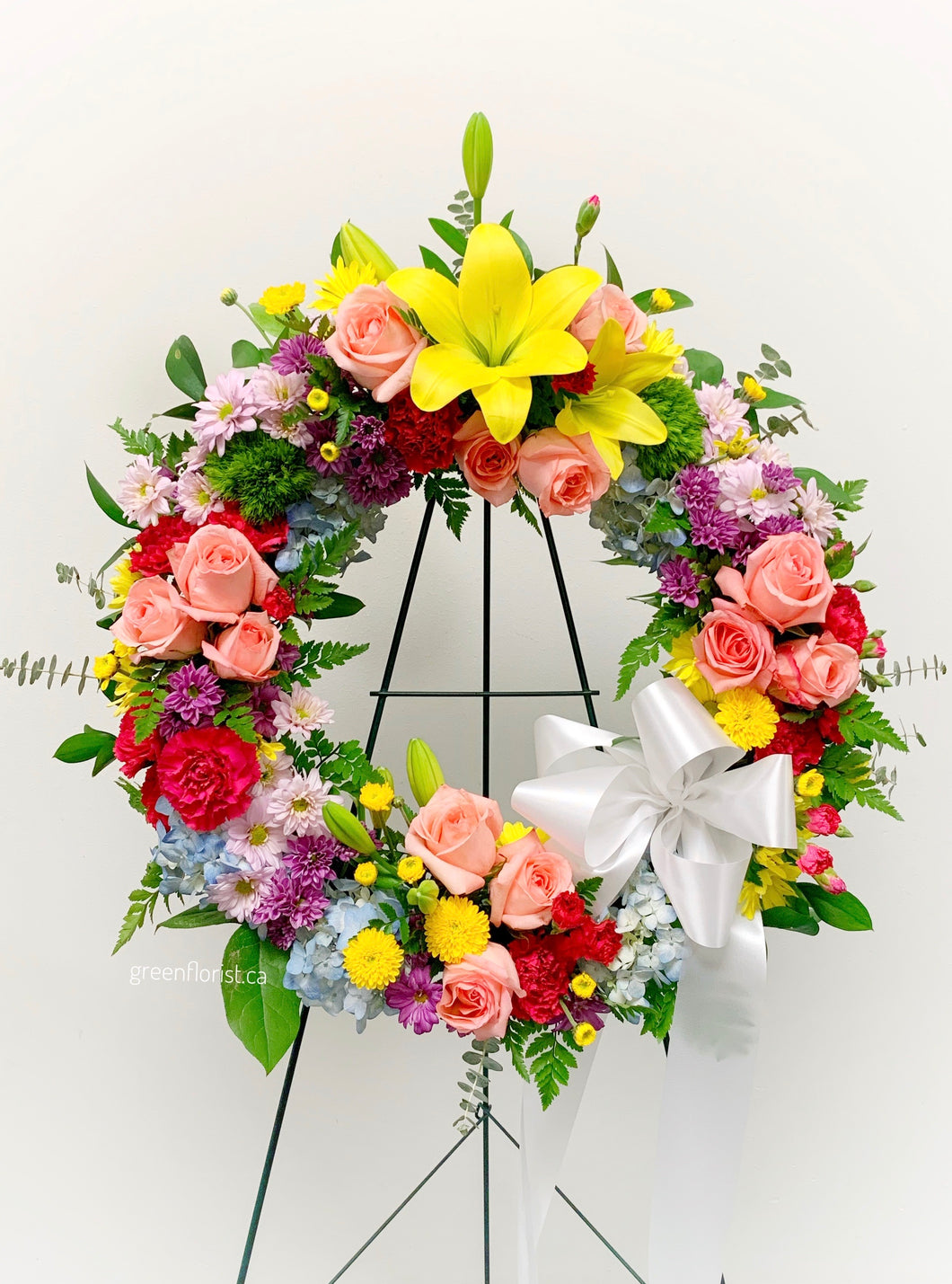 Colourful Serenity Wreath