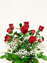 Load image into Gallery viewer, Long Stem Roses Vased - require 3-day notice