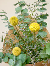 Load image into Gallery viewer, Eucalyptus & Billy Buttons Bouquet