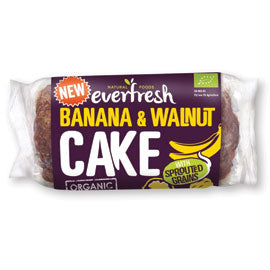 Everfresh Natural Foods Banana and Walnut Cake with Sprouted Grain - Square Farm Shop