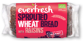 Everfresh Natural Foods Sprouted Wheat Bread -Raisin - Square Farm Shop
