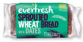 Everfresh Natural Foods Sprouted Wheat Bread - Date - Square Farm Shop