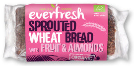 Everfresh Natural Foods Sprouted Wheat Bread - Fruit & Almond - Square Farm Shop