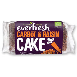Everfresh Natural Foods Carrot and Raisin Cake with Sprouted Grain - Square Farm Shop