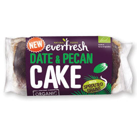 Everfresh Natural Foods Date and Pecan Cake with Sprouted Grain - Square Farm Shop