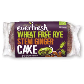 Everfresh Natural Foods Wheat Free Ginger Cake with Sprouted Grain - Square Farm Shop