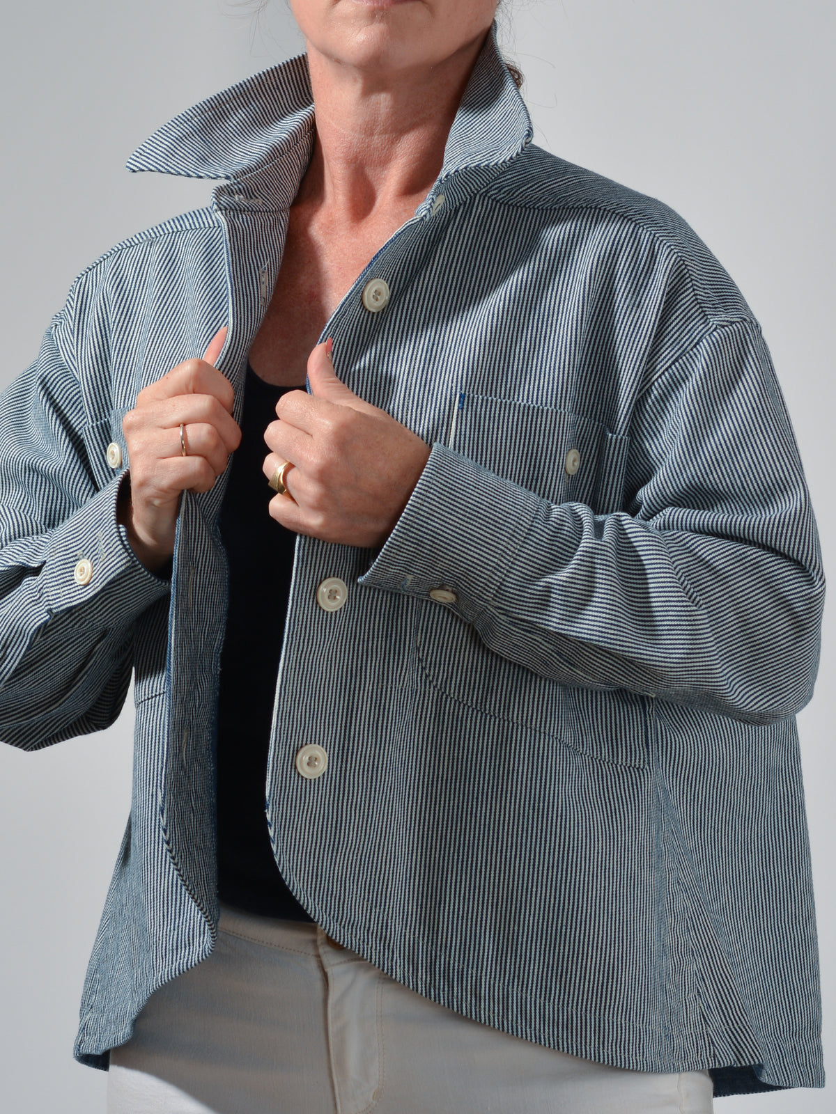 Genevieve Swing Jacket Japanese Engineer Denim