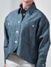 Genevieve Swing Jacket Chambray Canvas