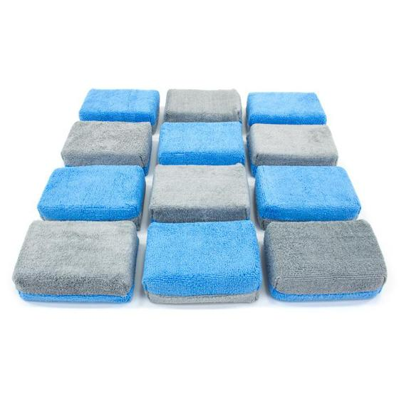 Autofiber Thick Microfiber Coating Applicator Sponge with Plastic Barrier