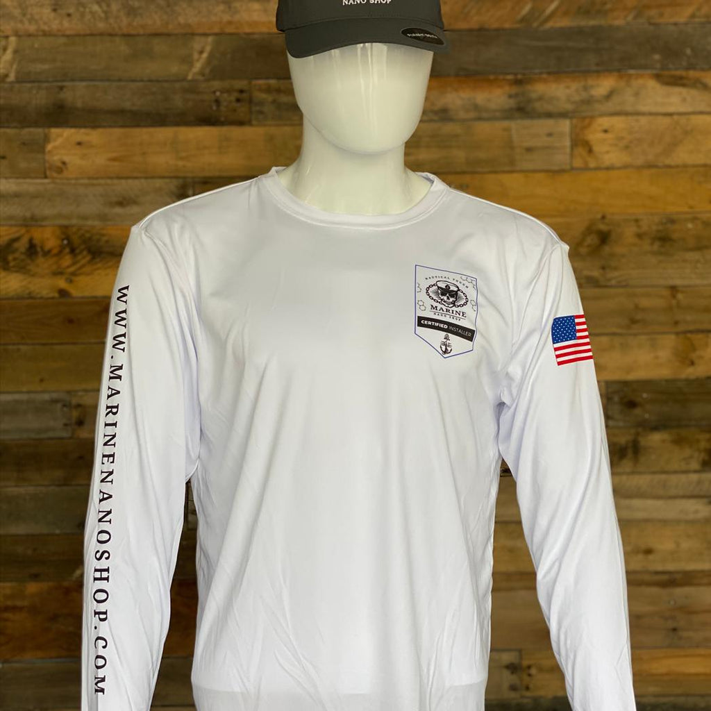 Marine Nano Shop Dri Fit Long Sleeve Shirt - Certified Installer