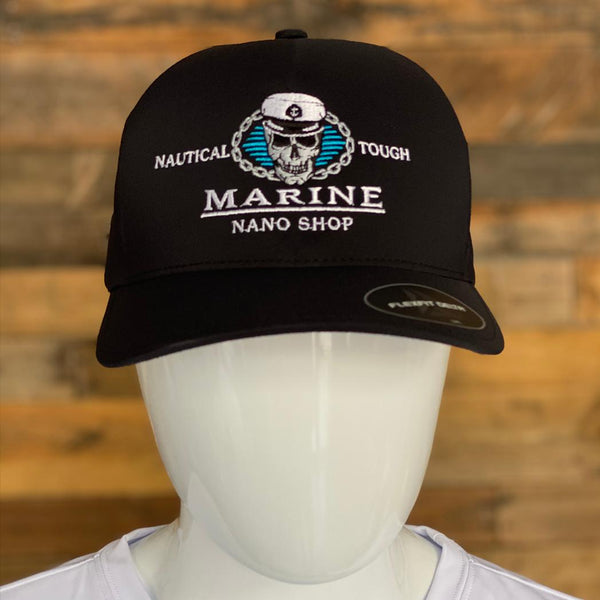 Marine Nano Shop Delta Flex Fit Black Hat