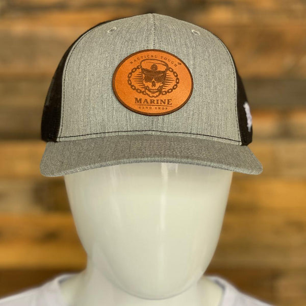 Marine Nano Shop Curved Trucker Heather Grey/Black Hat