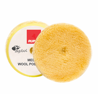 Rupes BigFoot Yellow Wool Medium Polishing Pad