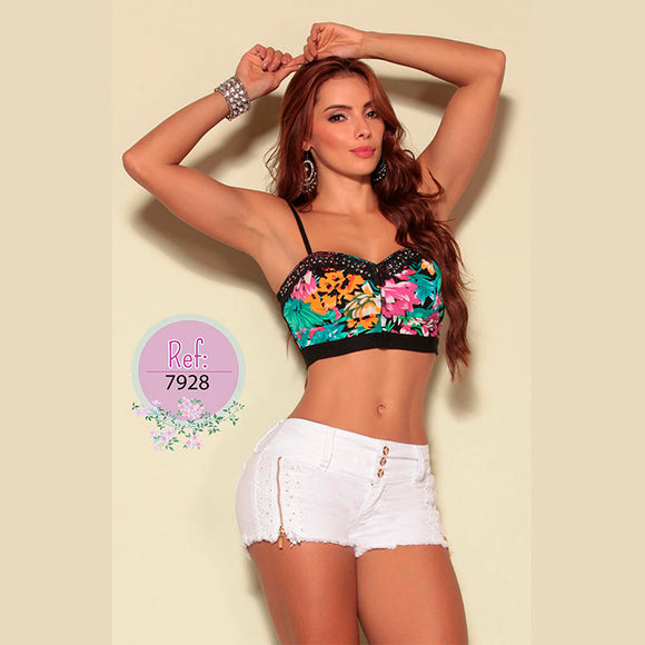 Crop Top Colombiano - TAINAMODALATINA.ES