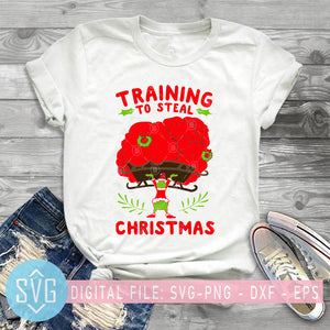 Training To Steal Christmas SVG, Grinch Christmas SVG, Christmas SVG, Merry Christmas SVG, Grinch SVG