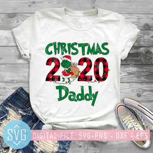 Christmas 2020 Daddy SVG, Grinch SVG, Funny Grinch SVG, Christmas SVG, Santa Grinch SVG, Buffalo Plaid SVG