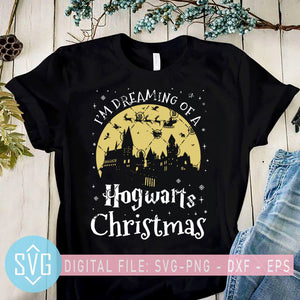 I'm Dreaming of A HogWarts Christmas SVG, Harry Potter Christmas SVG, Christmas SVG, Christmas Clipart, PNG, EPS, DXF, Cricut File, Silhouette