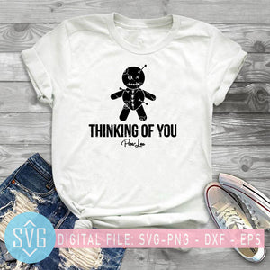 Think Of You, Piper Lou SVG, Voodoo doll SVG, West African Vodun Voodoo Doll SVG, magic doll SVG, scary doll SVG