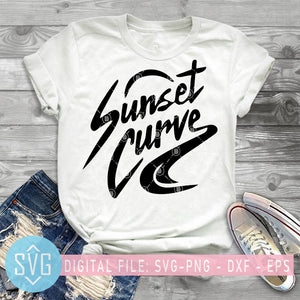 Sunset Curve Band SVG