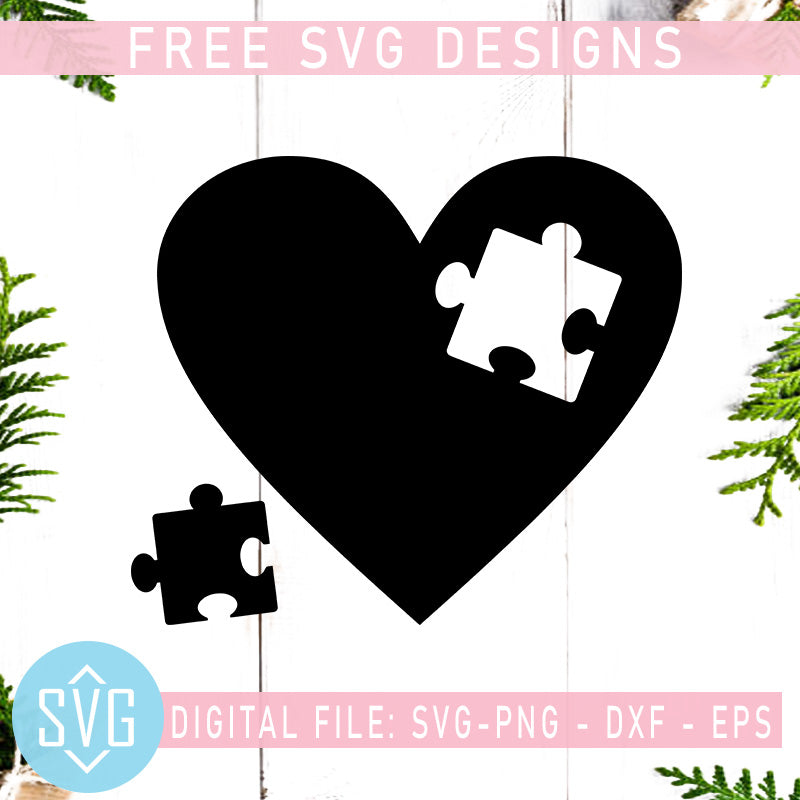 Autism Awareness Free Svg Autism Heart Puzzle Free Svg Instant Downlo Svg Trends Studio Trendy Svg For Crafters