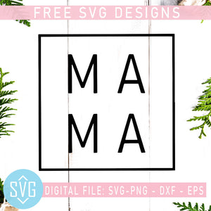 MA MA Free SVG, Mother's Day Free SVG, Mom Free, Mother Free Vector