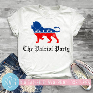 Patriot Party SVG, Conservative Lion Patriotic 4th of July SVG, 4th of July SVG