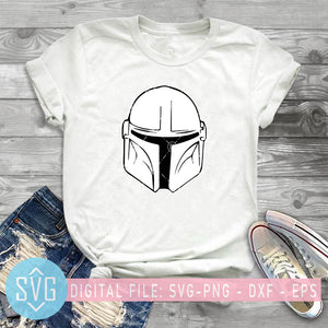 The Mandalorian SVG, Mandalorian Head SVG, Star Wars SVG, Film SVG