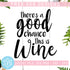 There's A Good Chance This Is Wine Free SVG, Wine Quotes Vector Instant Download