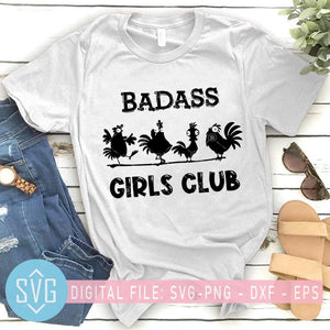Badass Girls Club SVG, Funny Chicken Farm SVG, 4 Chicken SVG - SVG Trends Studio | Trendy Cut Files for Crazy Crafters