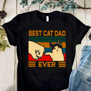 Best Cat Dad Ever SVG, Funny Mens Shirt Retro Vintage SVG, Cat Dad SVG