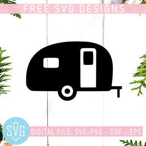 Camper Van Free SVG, Camping Free Vector, Outdoor Camp Free SVG, Instant Download